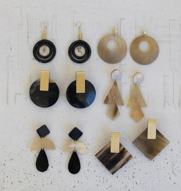 Kalalou Horn Earrings