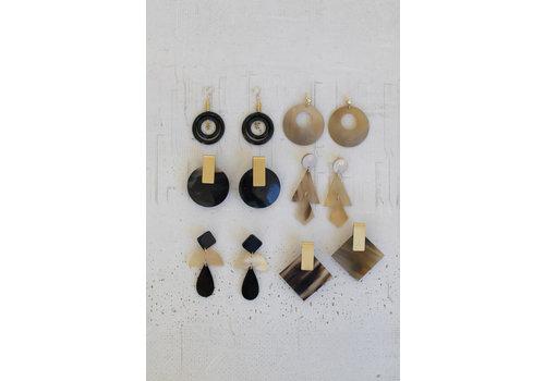 Kalalou Horn Earrings