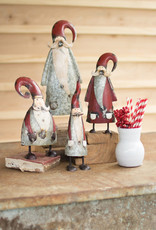 Painted Galvanized Santa LG