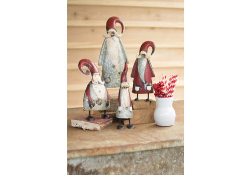 Painted and Galvanized Santa Med