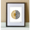 """made by nat Made by Nat """"Sunflower Waves"""" Print"""
