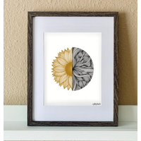 """Made by Nat """"Sunflower Waves"""" Print"""
