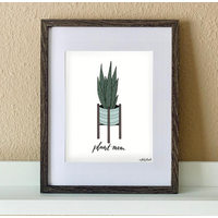 "Made by Nat ""Snake Plant Mom"" Print"
