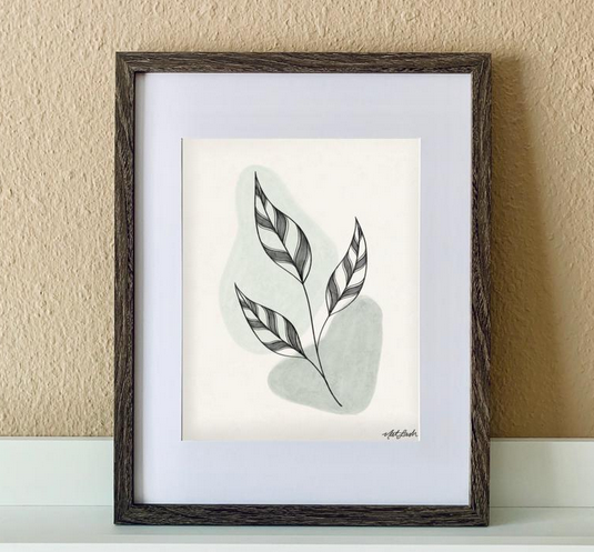 "made by nat Made by Nat ""Calm Leaves 1"" Print"