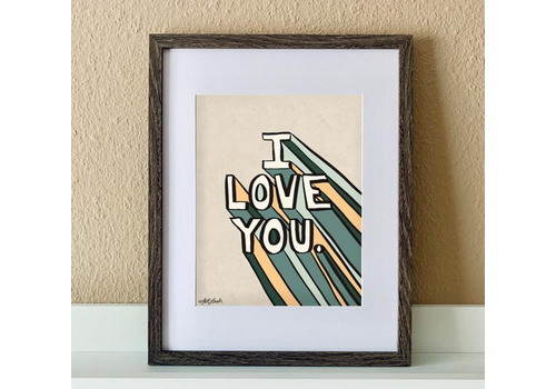 "made by nat Made by Nat ""I Super Love You"" Print"