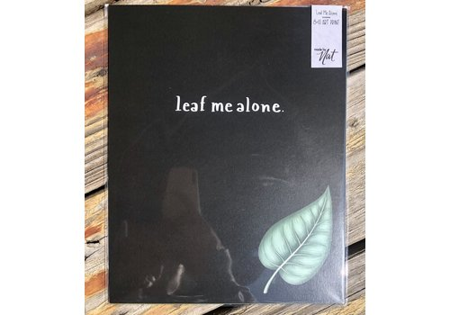 "made by nat Made by Nat ""Leaf Me Alone"" Print"