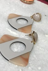 The Workroom Fashion Grey and Tortise drop Earrings