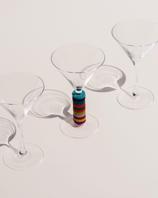 Graf and Lantz Hexagon Wine-O's Set of 12