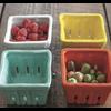 Creative Co-Op Square Stoneware Basket