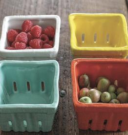 Creativeco-op Square Stoneware Basket