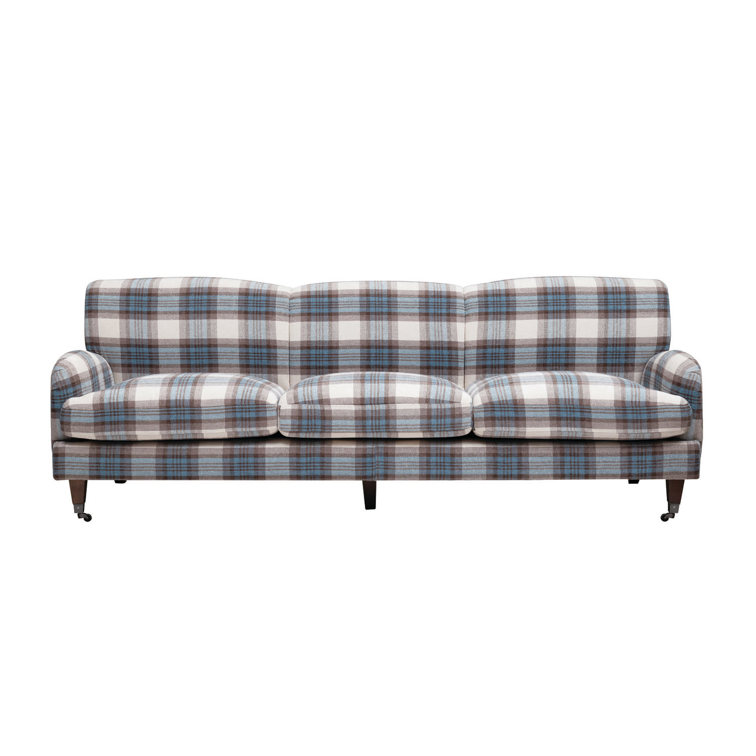 Creativeco-op Blue and Brown Plaid Couch
