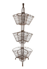 Creativeco-op Metal Stand with baskets