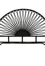 Creativeco-op Black Queen Rattan Headboard
