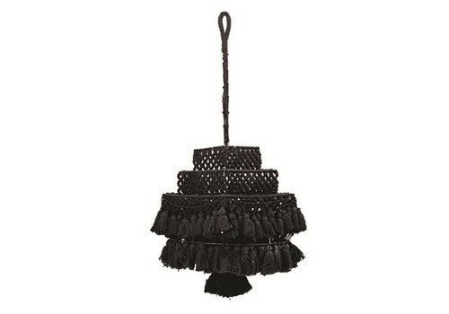 Creativeco-op Black Macrame Canopy