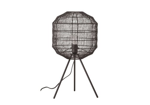Creative Co-Op Black Paper Shade Lamp
