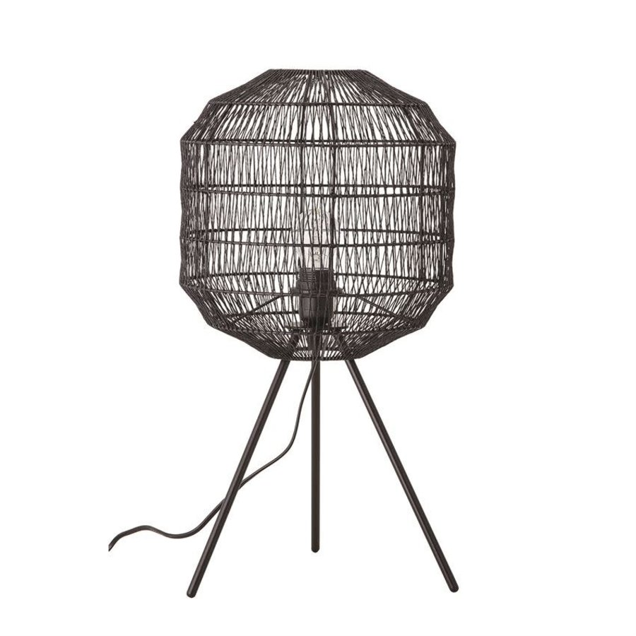 Black Paper Shade Lamp