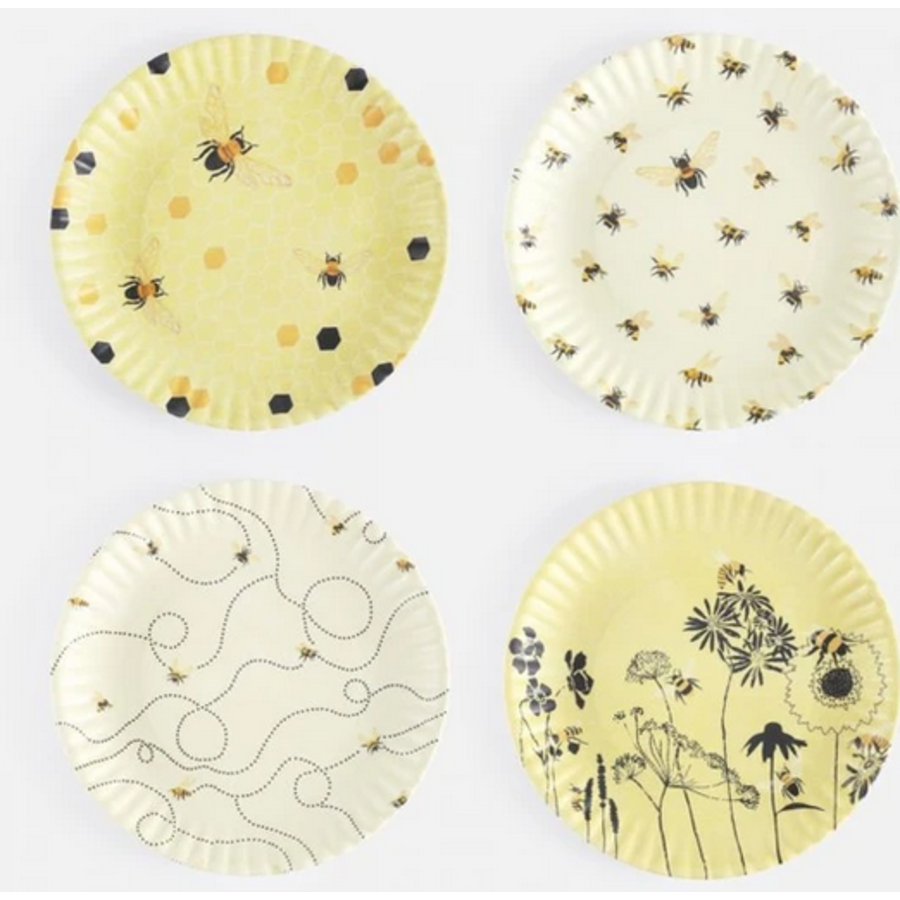 """Busy Bees by Debbie Taylor-Kerman """"Paper"""" Plates"""