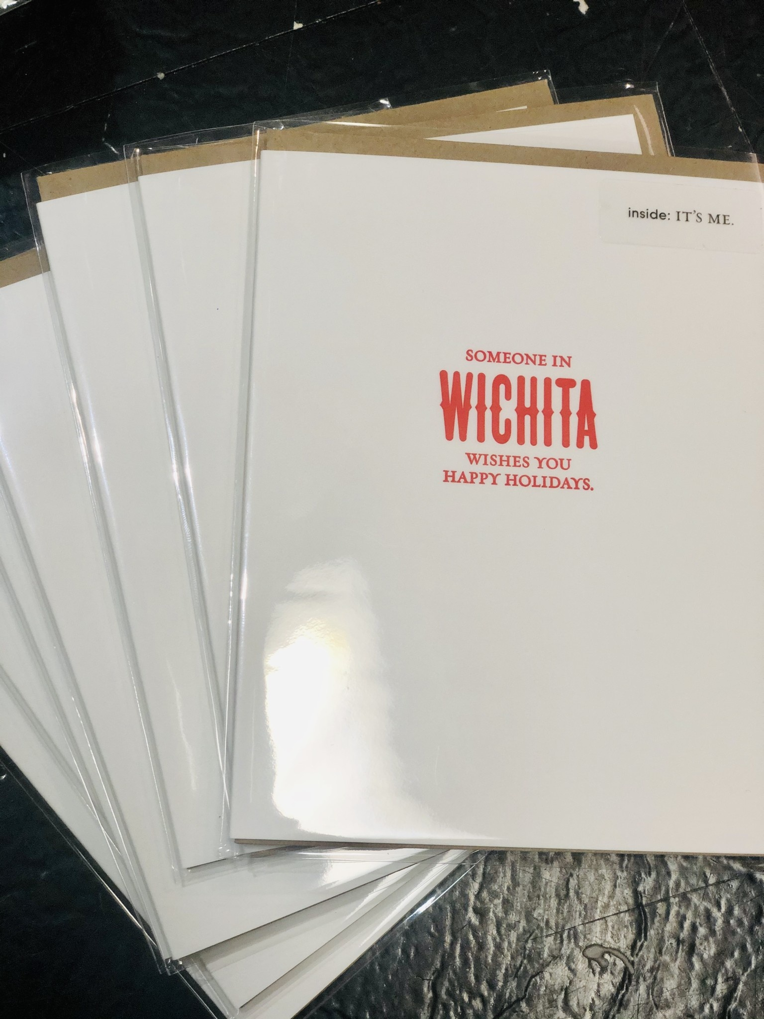 Sapling Press Happy Holiday Card Wichita