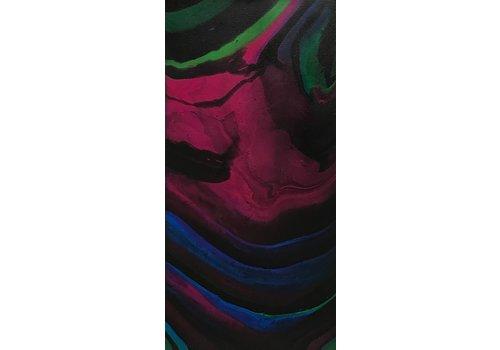 "Acrylic Creations By Jessica Kilpatric Black, Pink, Blue, and Green 10""x20"" Acrylic Creations by Jess"
