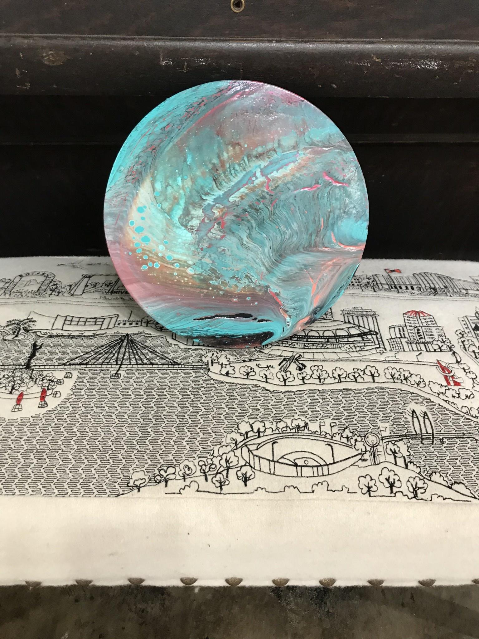 "Acrylic Creations By Jessica Kilpatric Acrylic Creations 10"" Round"