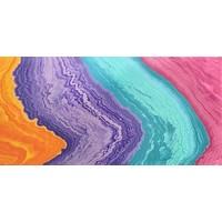 "Acrylic Creations 12""x24""- Orange, Purple, Turquoise, and Pink"