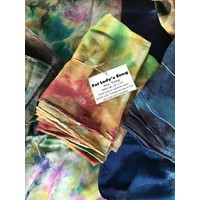 "Hand-Dyed Silk Scarf 14""x72""- Fat Lady's Song"
