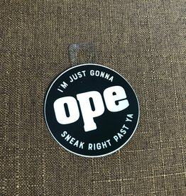 Threadbare Goods OPE Decal