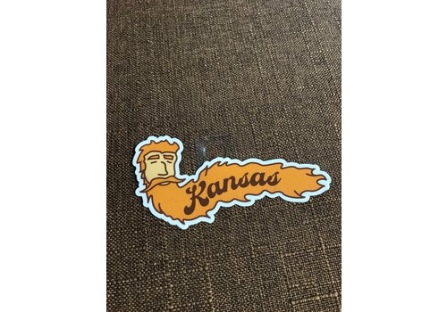 Threadbare Goods Bearded Kansas Decal
