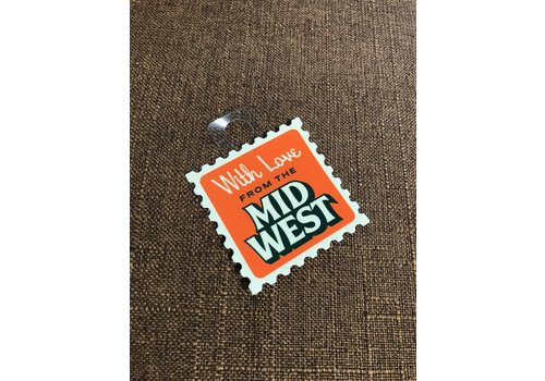 Threadbare Goods With Love From the Midwest Decal