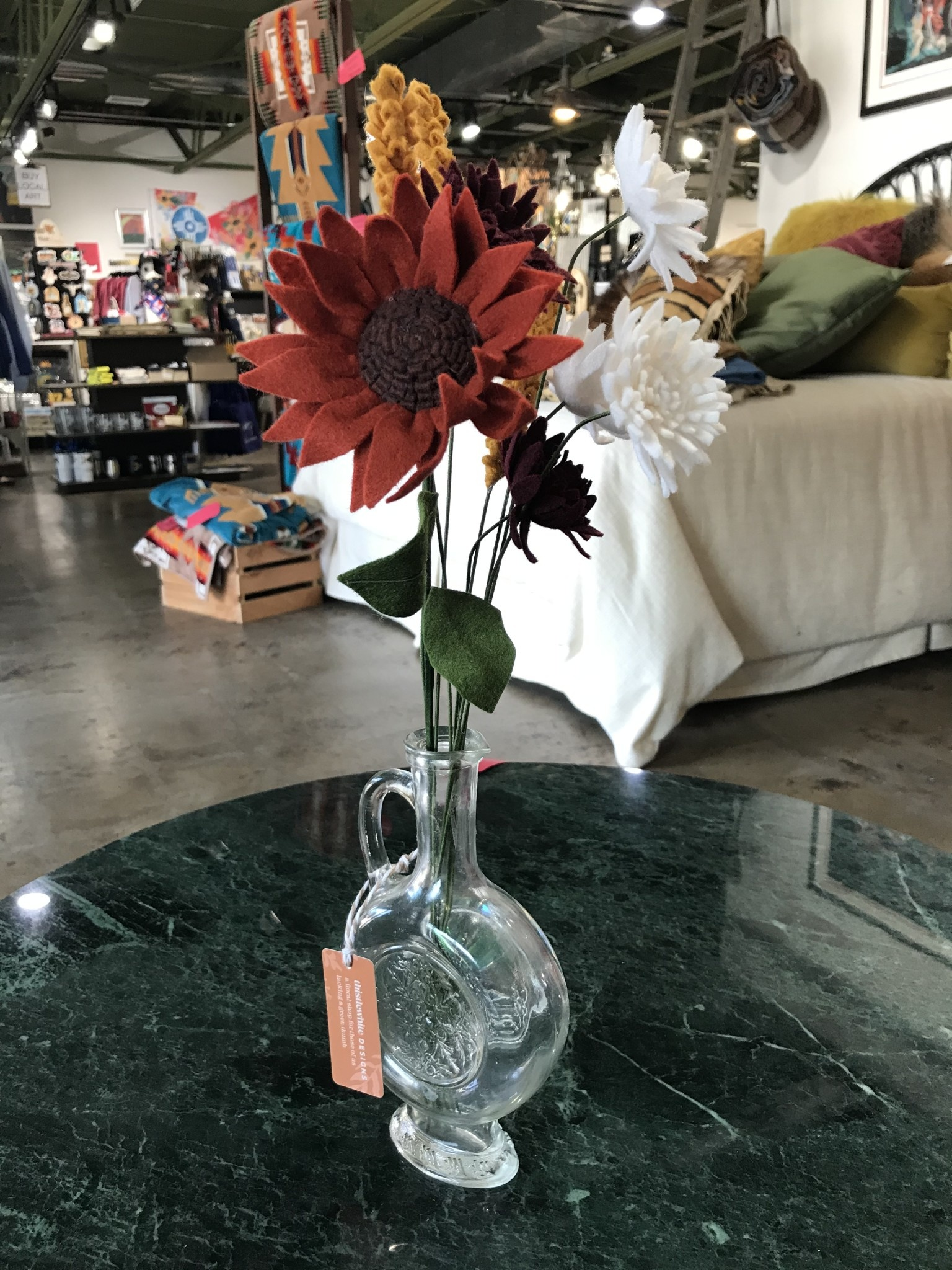 Thistlewhite Designs Orange Sunshine Bouquet w/ Vase