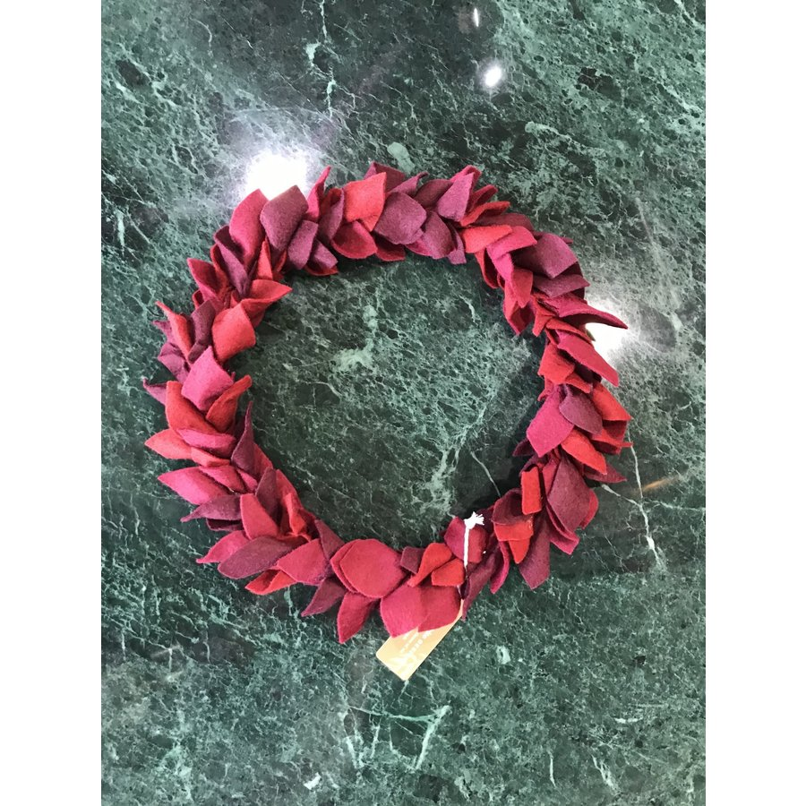 Red Leaves Wreath