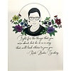 "RBG Matted Print ""Following Ruth"""