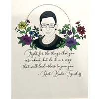 "RBG Matted Print ""Following Ruth"""