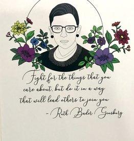 "Printed Ink Studios RBG Matted Print ""Following Ruth"""