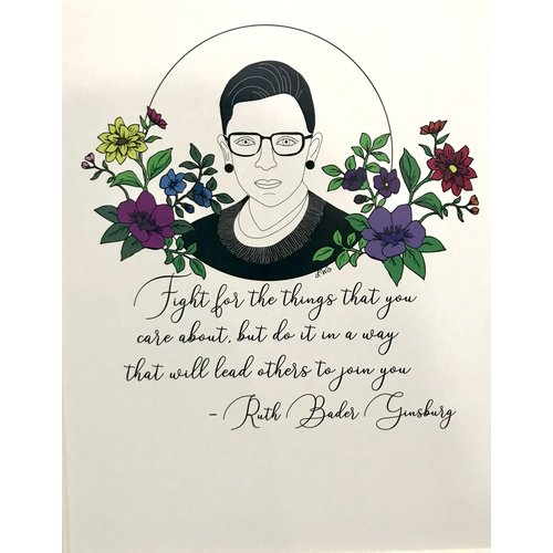 "Printed Ink Studios RBG Matted Print ""Following Ruth"""