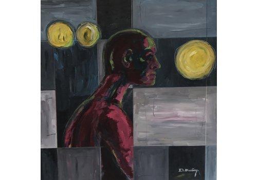 Doug Keeling Untitled Abstract Figure- Doug Keeling