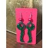 Green Glitter Keeper Earrings