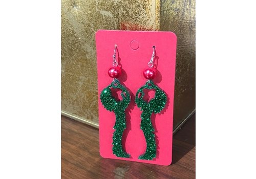 ICTMakers Green Glitter Keeper Earrings