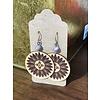 ICTMakers Sunflower w/ Hogan Leather Earrings