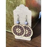 Sunflower w/ Hogan Leather Earrings