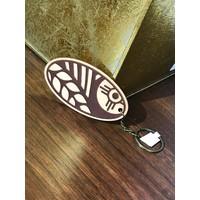 Leather Wheat Keychain