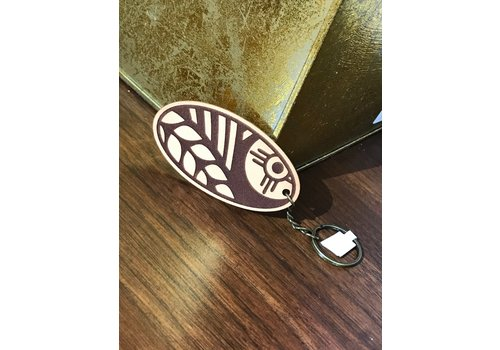 ICTMakers Leather Wheat Keychain