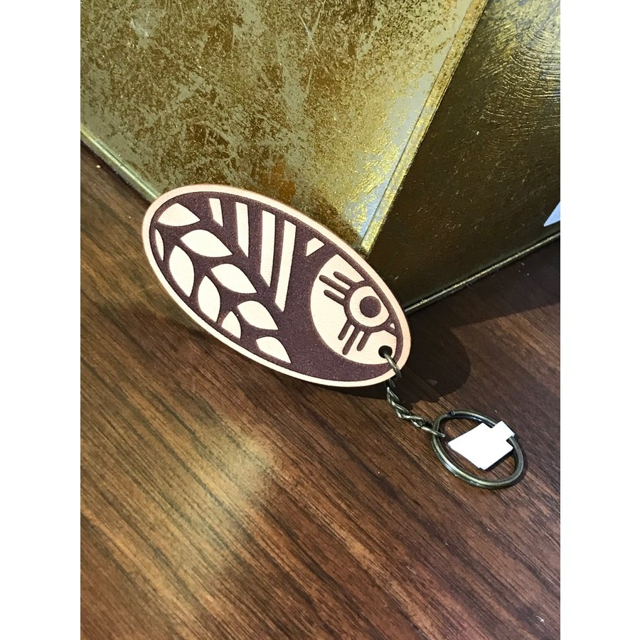 Leather Wheat Keychain