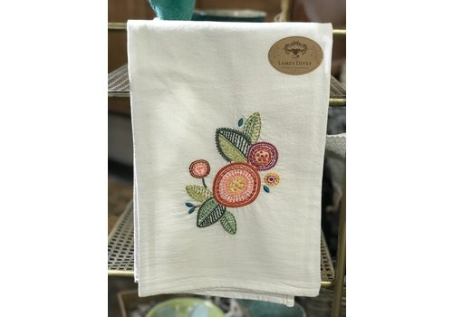 Lamzy Divey Upcycled, Embroidered Tea Towels