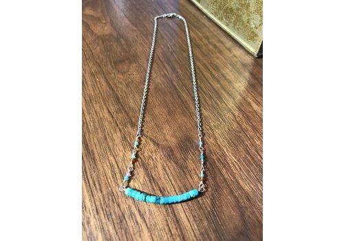 Lamzy Divey Gemstone Bar Necklace