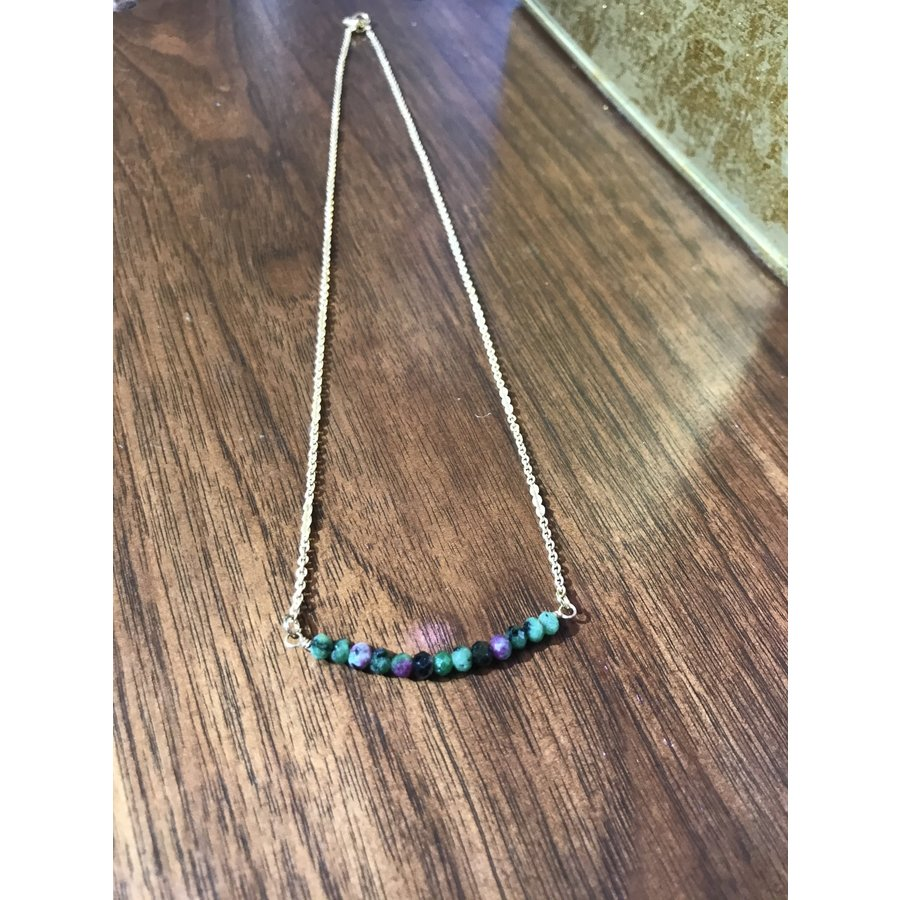 Gemstone Bar Necklace