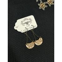 Lamzy Divey Stylized Bronze Earrings