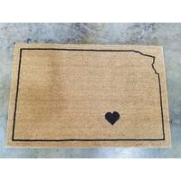 Large  KS State-o-Love Door Mat