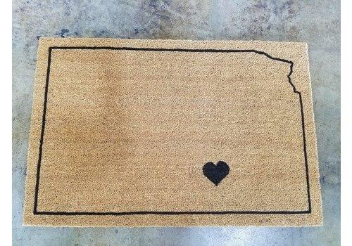 Liv+Work Large  KS State-o-Love Door Mat