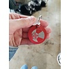 ICTMakers Red Etched Keychains